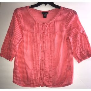 Coral top ruffles front sz large